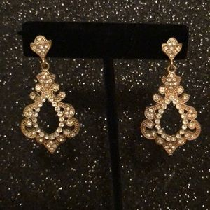 Gold & Rhinestone Earrings